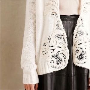 Anthropologie Sleeping On Snow Ivory Cardigan